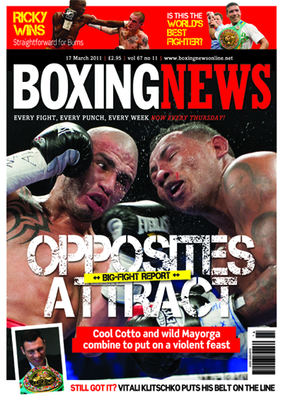 Boxing News - cover shot is cozzone photo